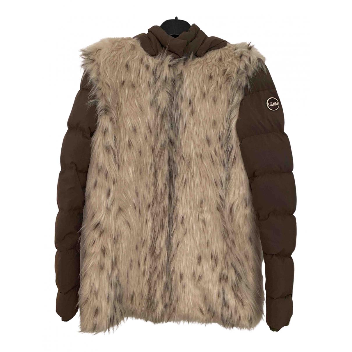 Colmar - Manteau   pour femme en fourrure synthetique - marron