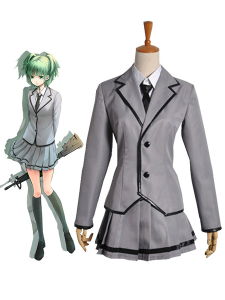 Milanoo Assassination Classroom Kunugigaoka Junior High School Class 3-E Girls School Uniform Cosplay Costume Halloween