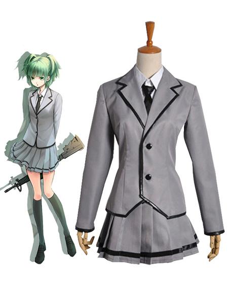 Milanoo Halloween Uniforme escolar cosplay de asesinato aula Kunugigaoka Junior High School 3-E chica de clase