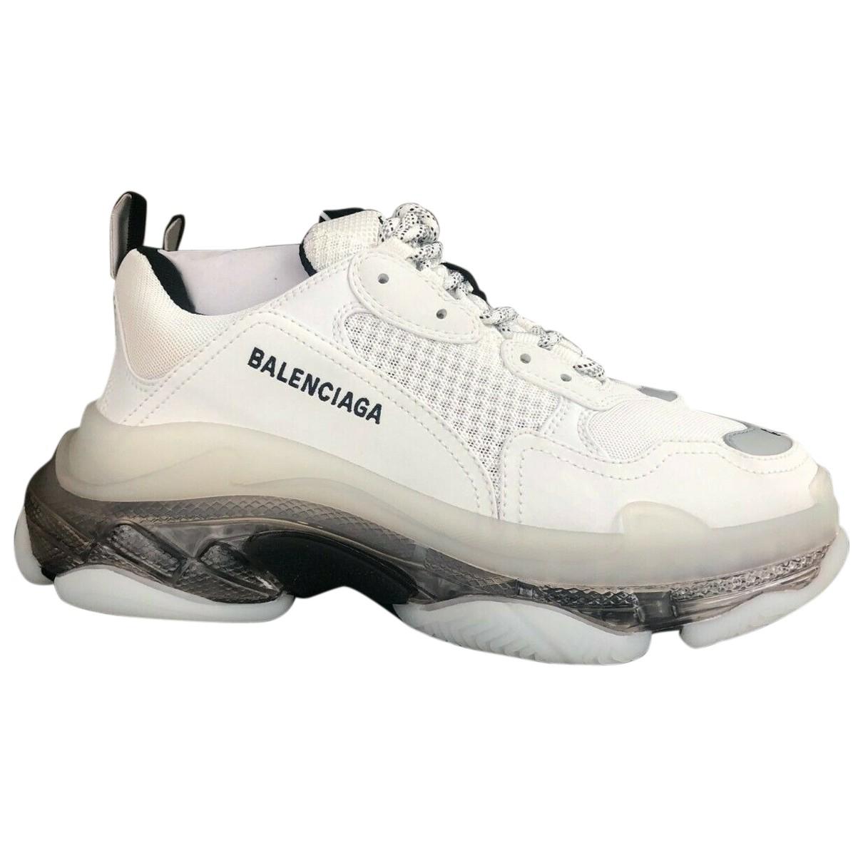 Balenciaga - Baskets Triple S pour homme en toile - blanc