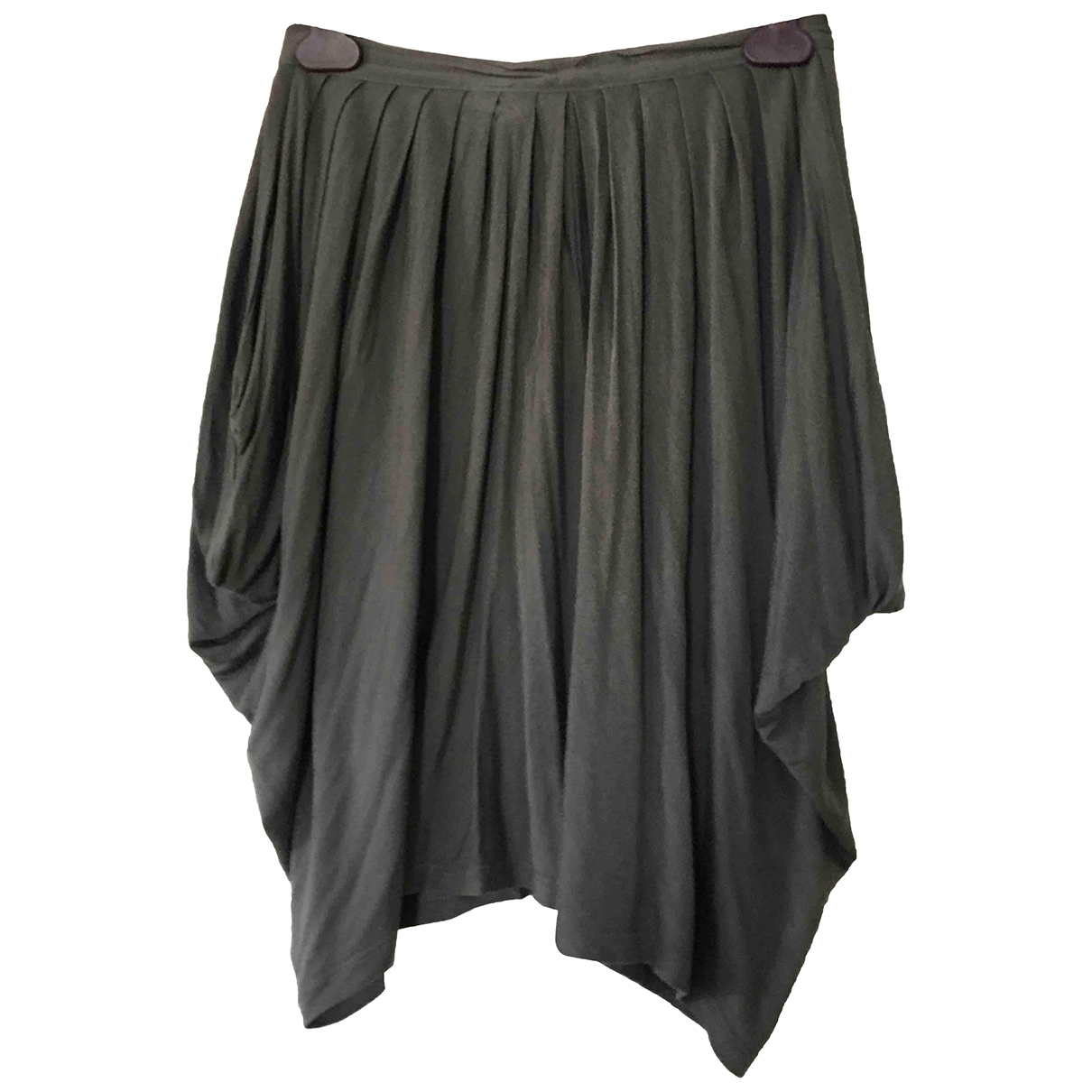 Stella Mccartney \N Grey Cotton skirt for Women 40 IT