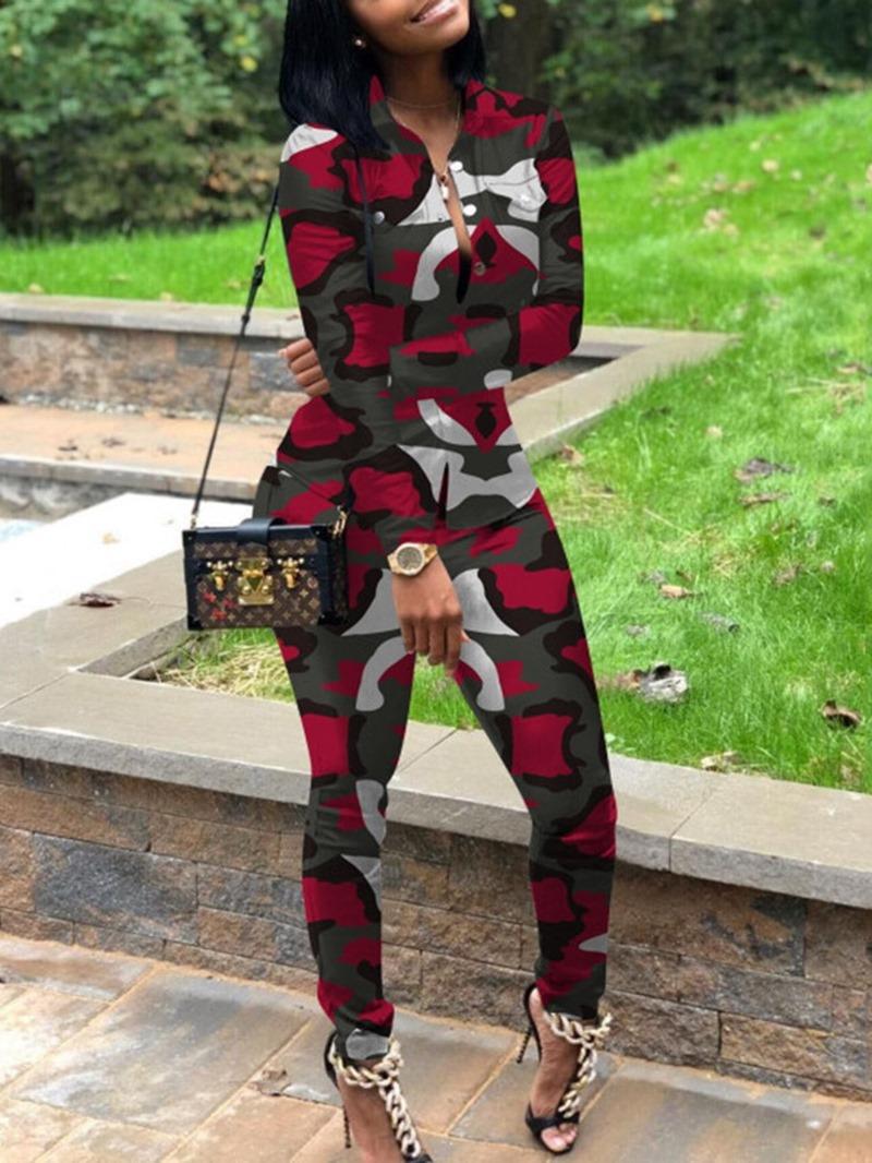 Ericdress African Fashion Dashiki Casual Slim Two Piece Sets