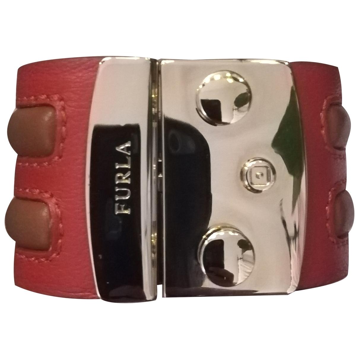 Furla - Bracelet   pour femme en cuir - rouge