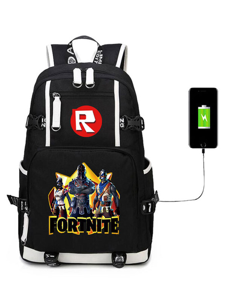 Milanoo Fortnite Costumes Backpack For Kids Game Battle Royale School Bag Camping Hiking Halloween