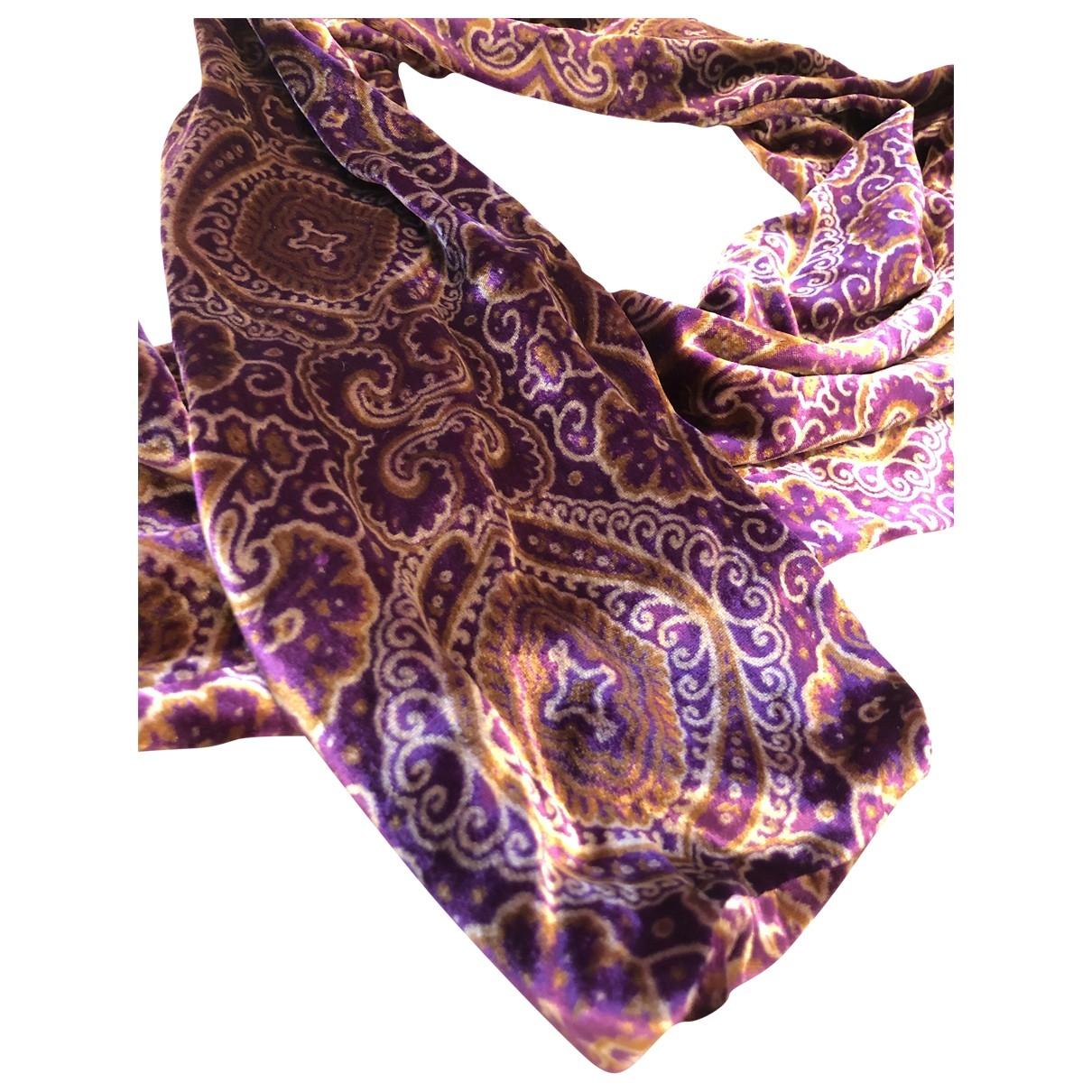 Loro Piana - Foulard   pour femme en soie - violet