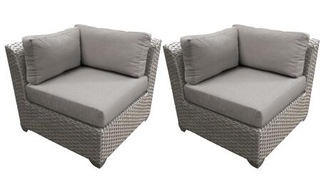 TKC055b-CS-DB-ASH Corner Chair 2 Per Box - Grey and Ash