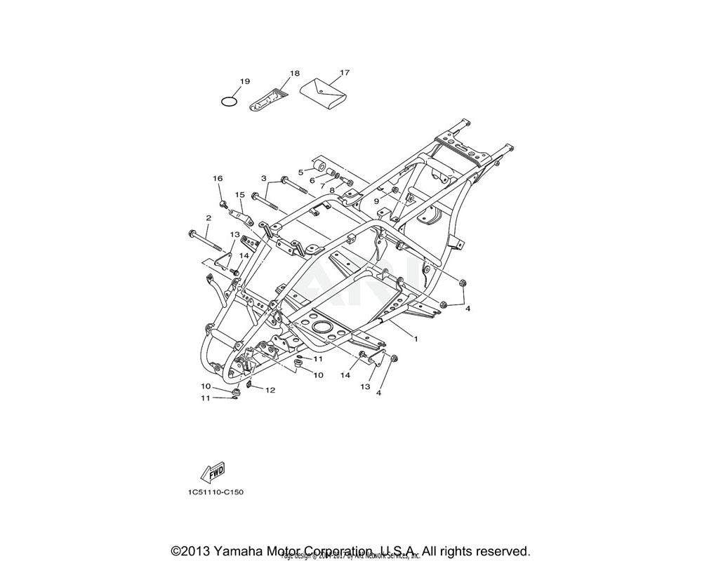 Yamaha OEM 90105-10183-00 BOLT, FLANGE