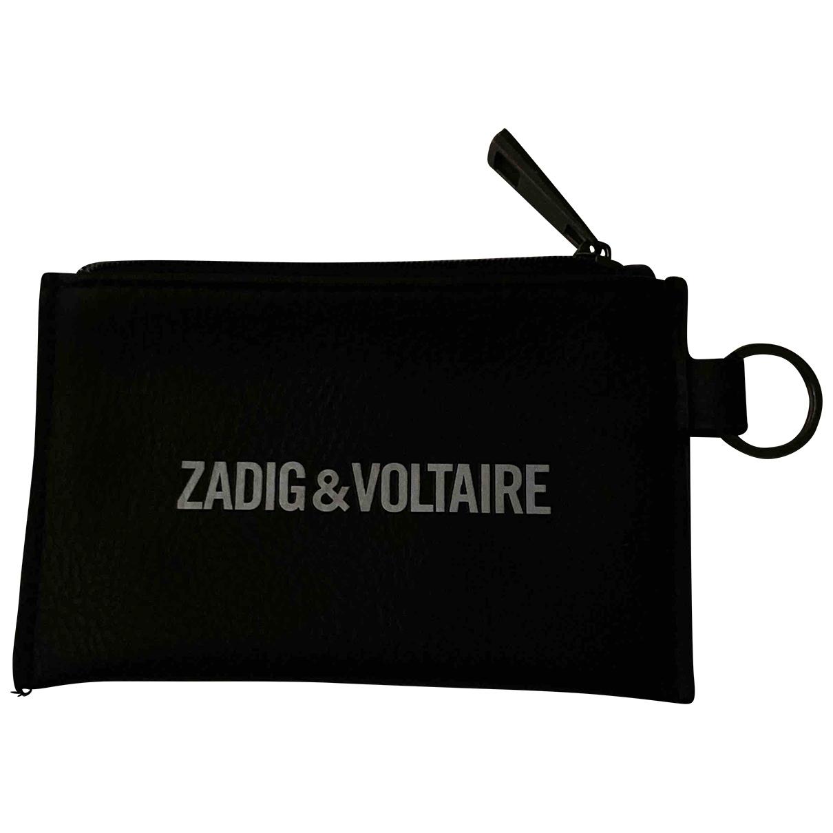 Zadig & Voltaire \N Black Leather Small bag, wallet & cases for Men \N