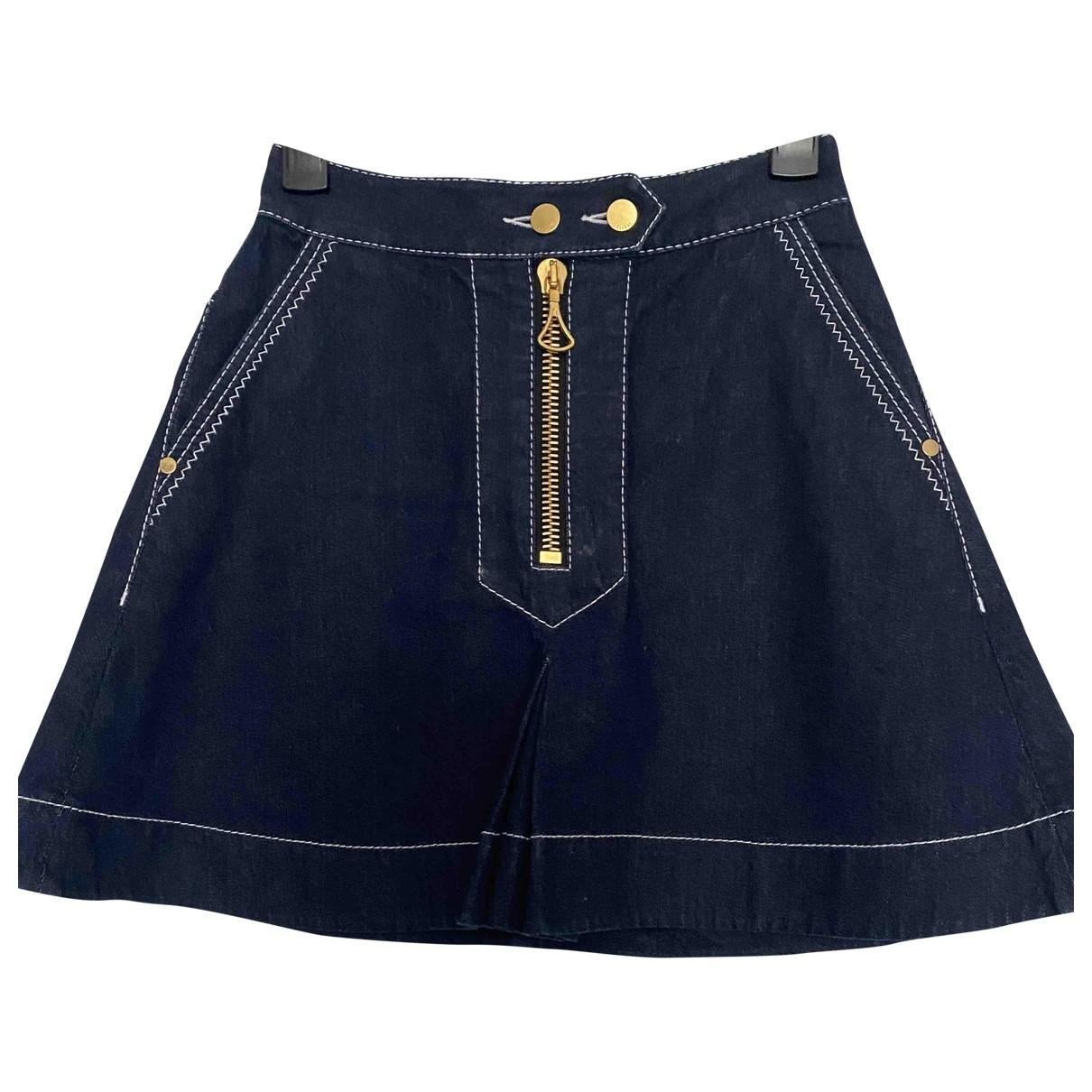 Ellery \N Navy Denim - Jeans skirt for Women 36 FR