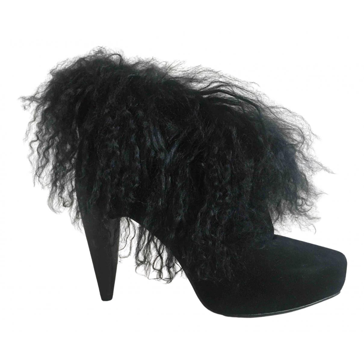 Jeffrey Campbell - Boots   pour femme en suede - noir