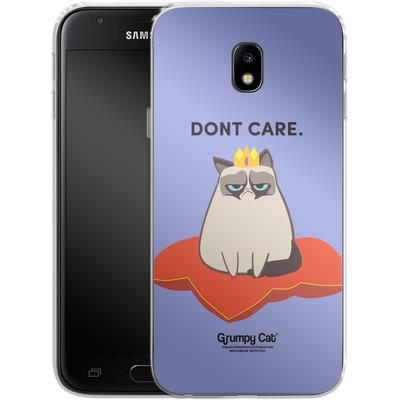 Samsung Galaxy J3 (2017) Silikon Handyhuelle - Dont Care von Grumpy Cat