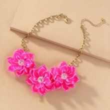 Blumen Charm Halskette