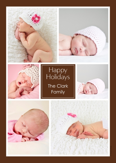 Holiday Photo Cards Flat Matte Photo Paper Cards with Envelopes, 5x7, Card & Stationery -Happy Holidays Collage