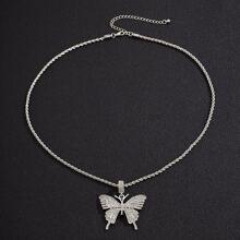Maenner Halskette mit Schmetterling Anhaenger