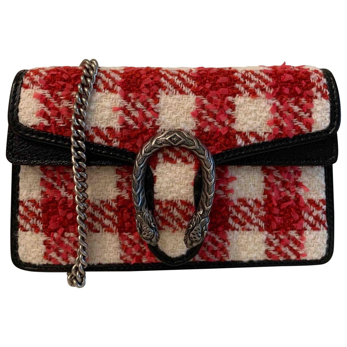 Gucci Dionysus Red Tweed handbag for Women \N