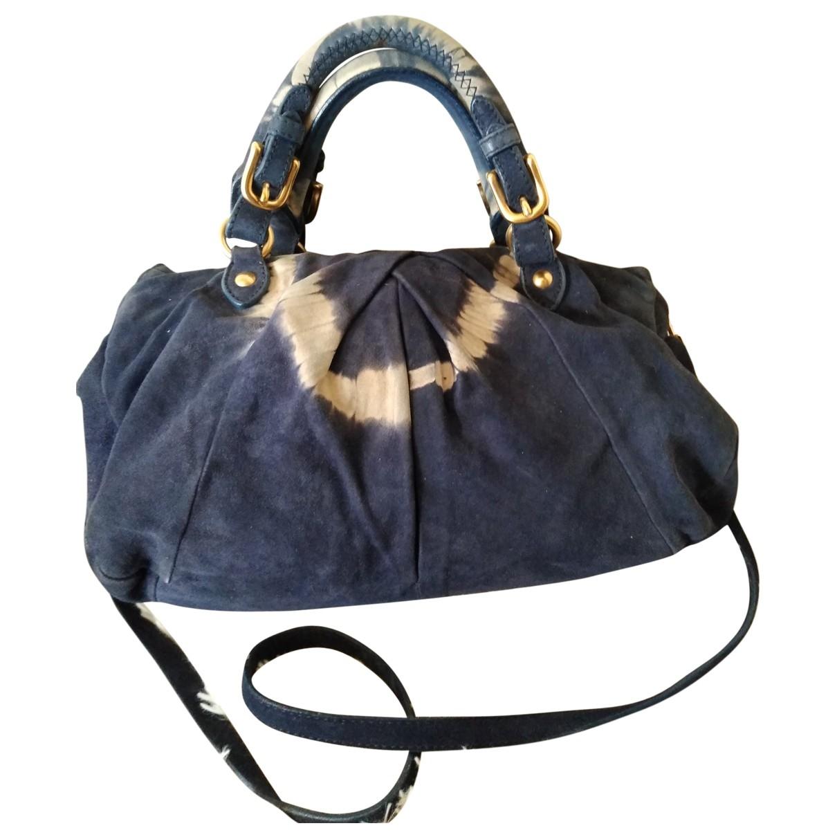 Miu Miu \N Handtasche in  Blau Leinen