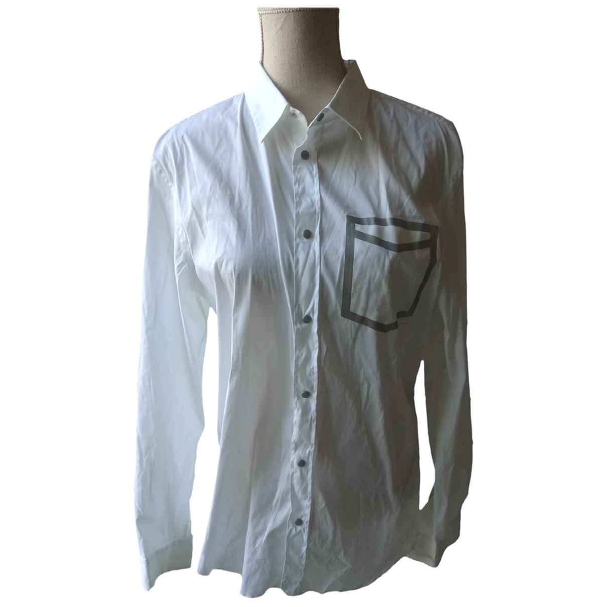 Emporio Armani - Chemises   pour homme en coton - blanc