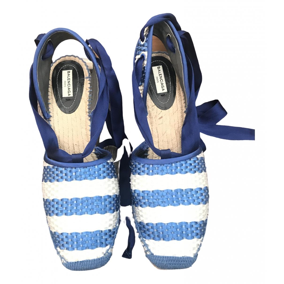 Balenciaga \N Espadrilles in  Blau Synthetik