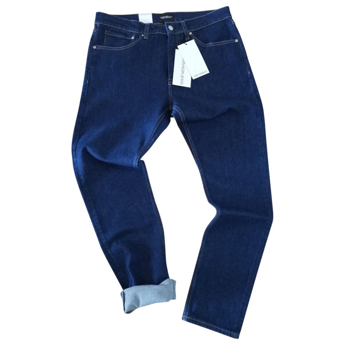 Calvin Klein - Jean   pour homme en coton - elasthane - bleu