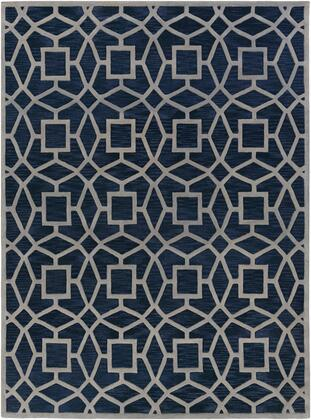 Dream DST-1169 9 x 13 Rectangle Modern Rug in Navy  Light