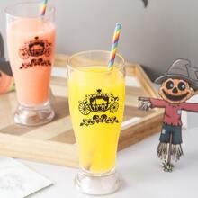 1pc Halloween Pattern Juice Cup