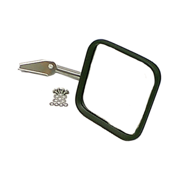 Rugged Ridge 11005.1 Mirror Head and Arm, Stainless Steel, Right; 55-86 Jeep CJ Models Jeep