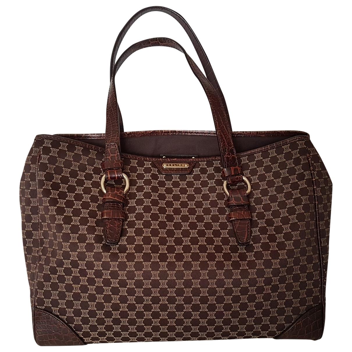 Celine \N Brown Cloth handbag for Women \N