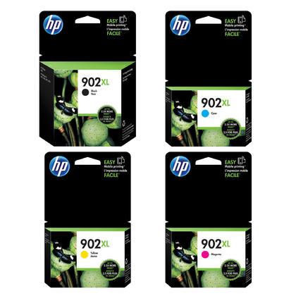 HP 902XL T6M14AN T6M02AN T6M06AN T6M10AN Original Ink Cartridge Combo High Yield BK/C/M/Y