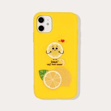 Fruit & Letter Graphic iPhone Case
