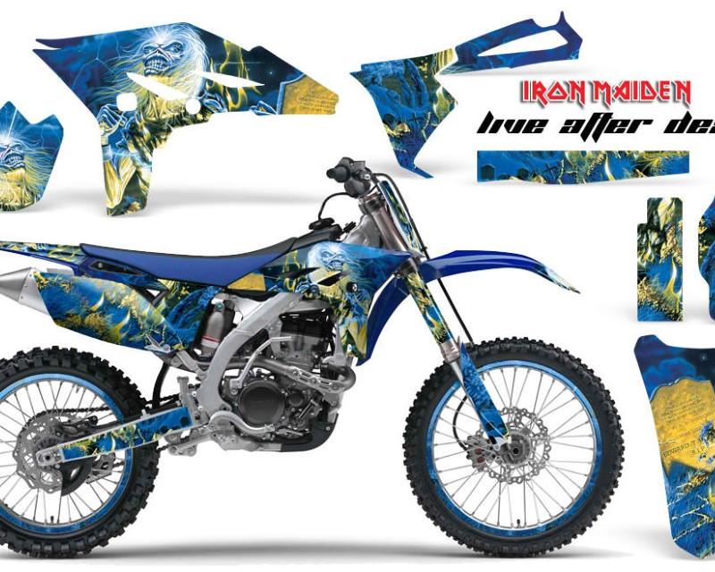 AMR Racing Graphics MX-NP-YAM-YZ250F-10-13-IM LAD Kit Decal Sticker Wrap + # Plates For Yamaha YZ250F 2010-2013 IM LAD