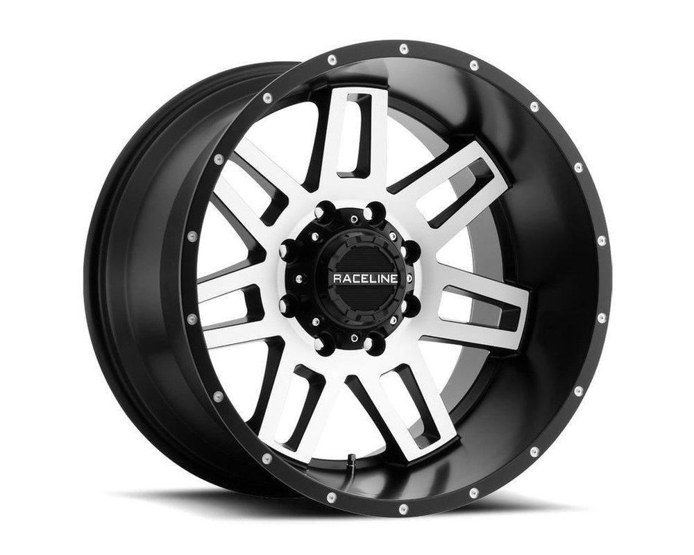 Raceline 931M Injector Black w/ Machined Face Wheel 20X9 5X150|5X139.7 20mm