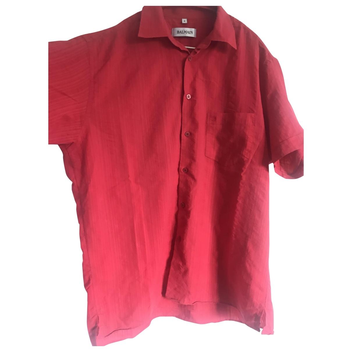 Balmain \N Hemden in  Rot Baumwolle