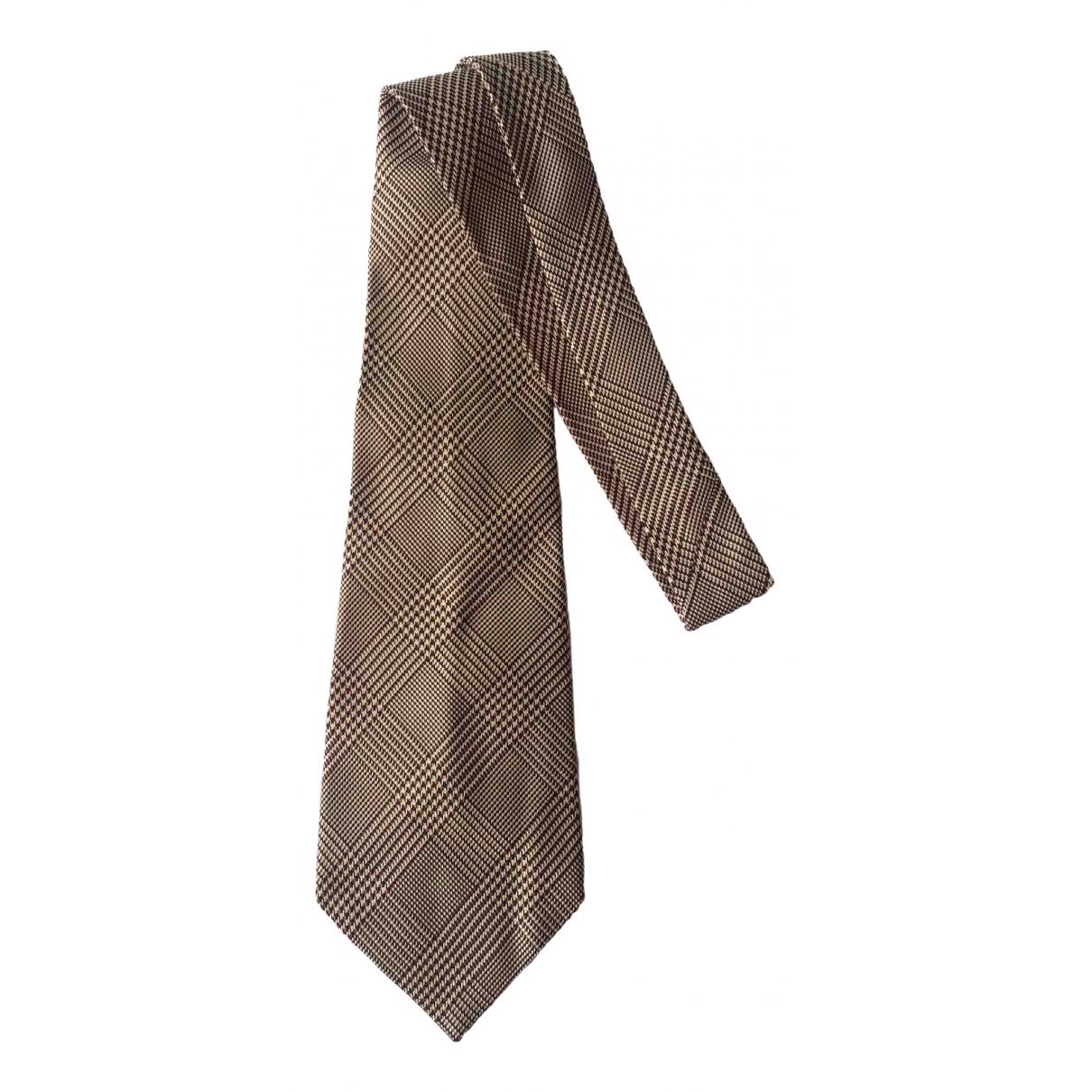 Saint Laurent \N Beige Silk Ties for Men \N