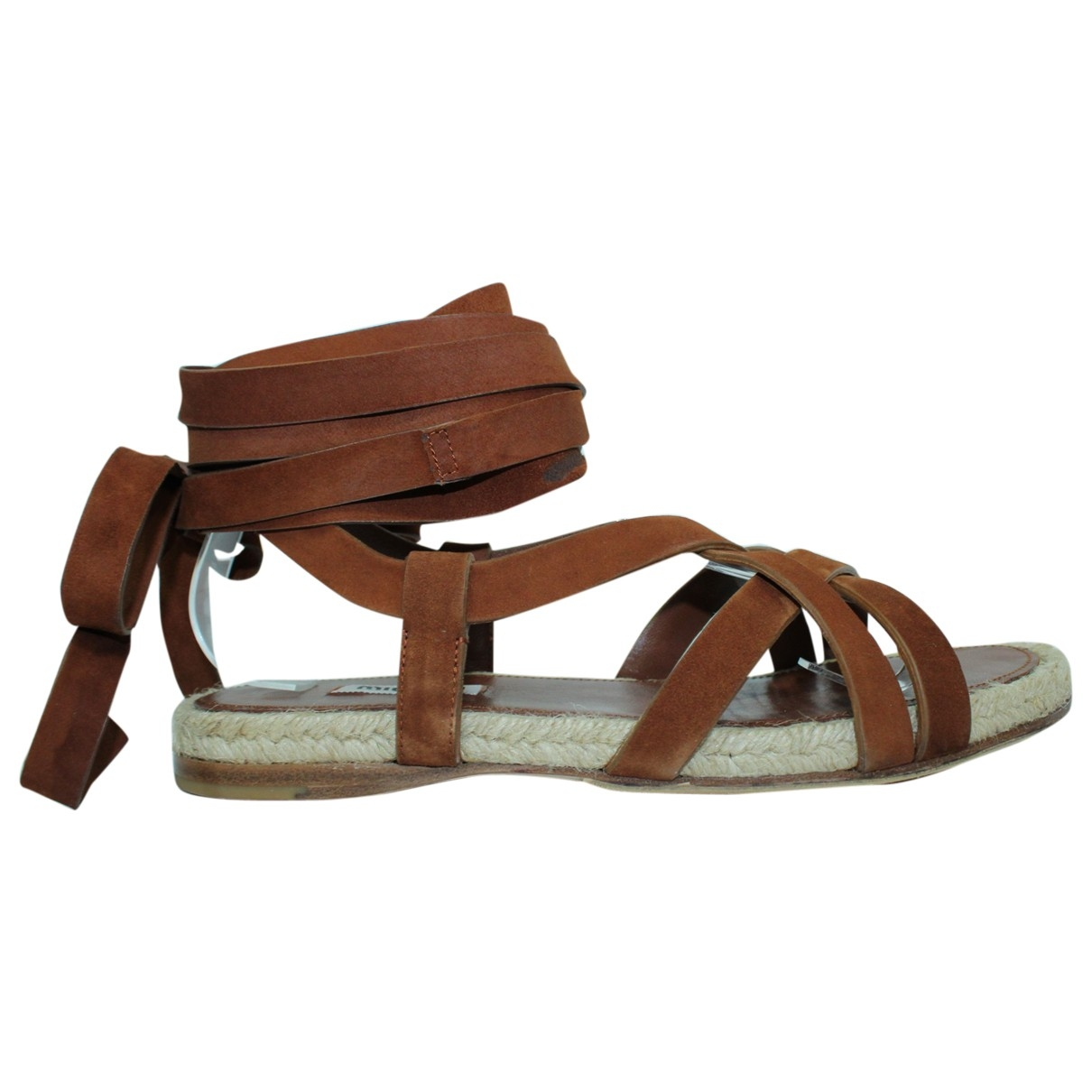 Miu Miu \N Brown Leather Sandals for Women 38 EU