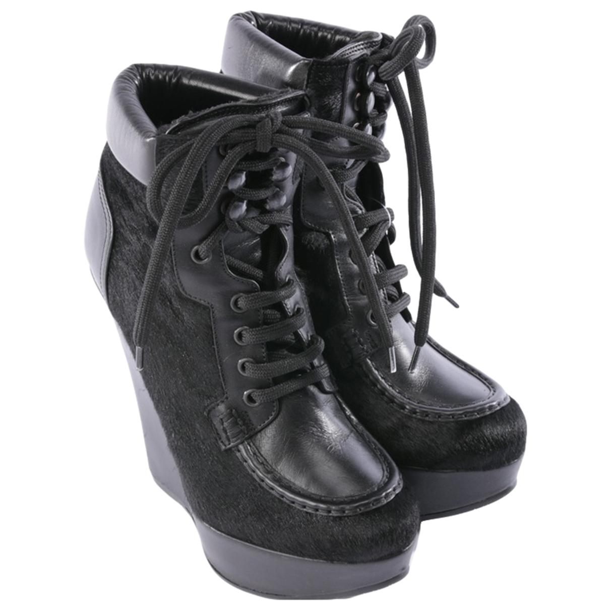 Dsquared2 - Boots   pour femme en veau facon poulain - noir