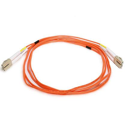 Fiber Optic Cable, OM1 LC/LC, Multi Mode, Duplex (62.5/125 Type) - Orange - Monoprice® - 2m