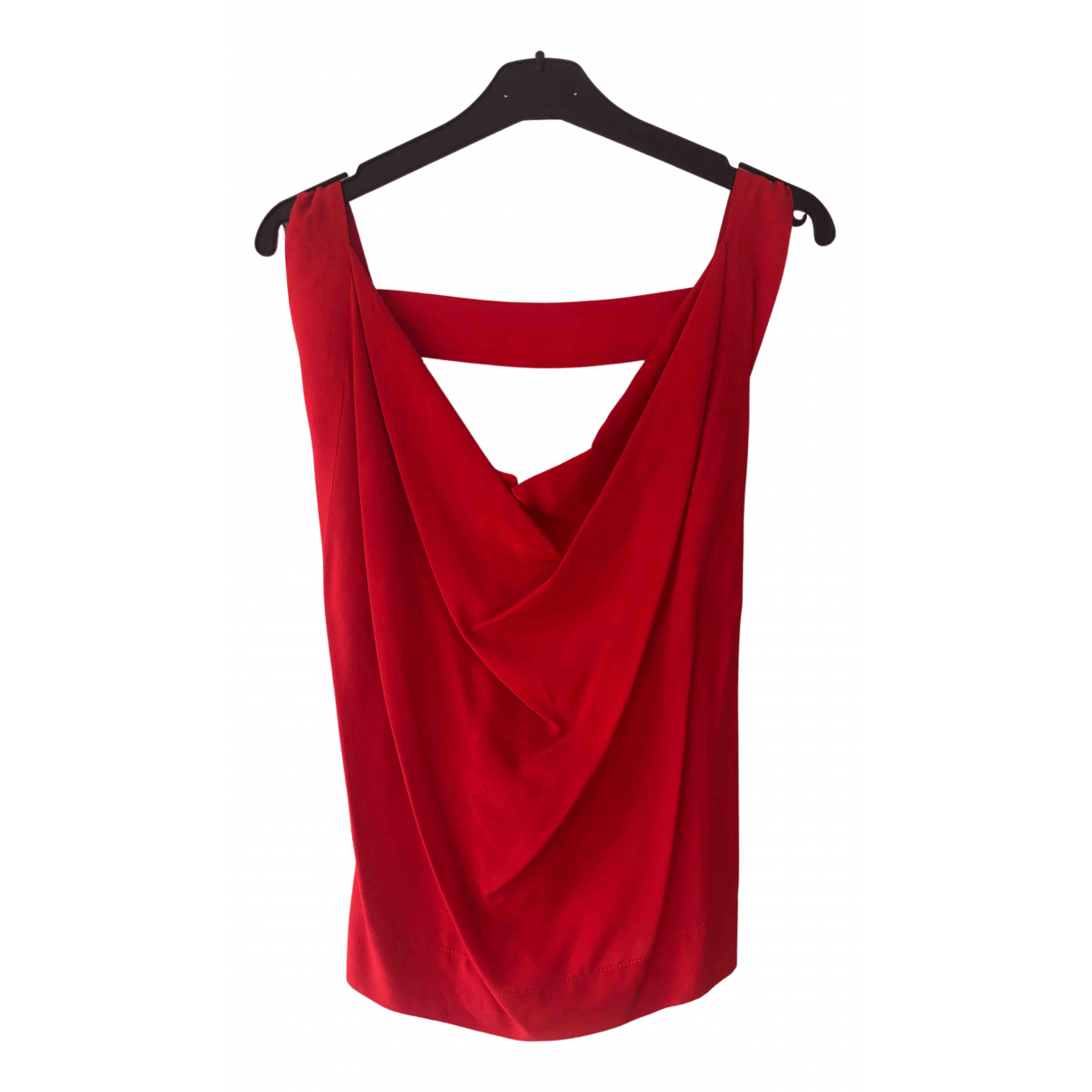 Vivienne Westwood Anglomania N Red Silk  top for Women 42 IT
