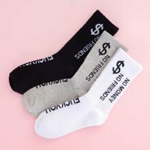 3 pares calcetines con patron de dolar