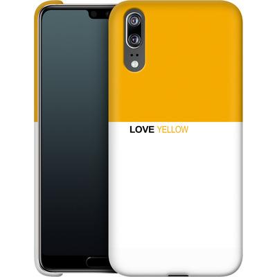 Huawei P20 Smartphone Huelle - LoveYellow von caseable Designs