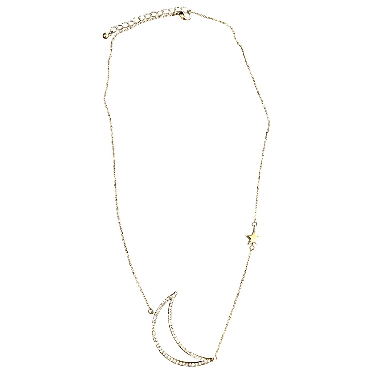 Non Signé / Unsigned Motifs Etoiles Gold Metal necklace for Women \N