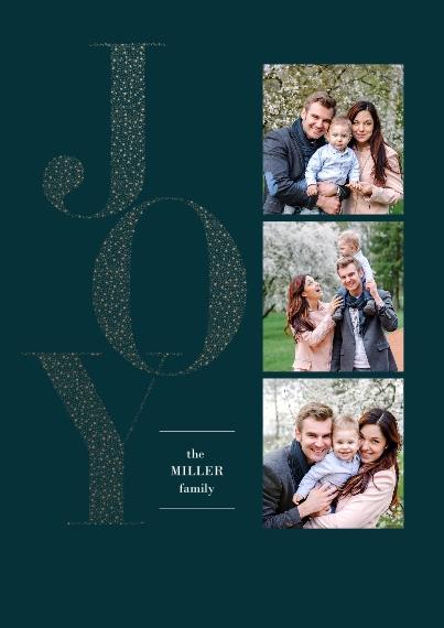 Christmas Photo Cards 5x7 Cards, Standard Cardstock 85lb, Card & Stationery -Elegant Joy