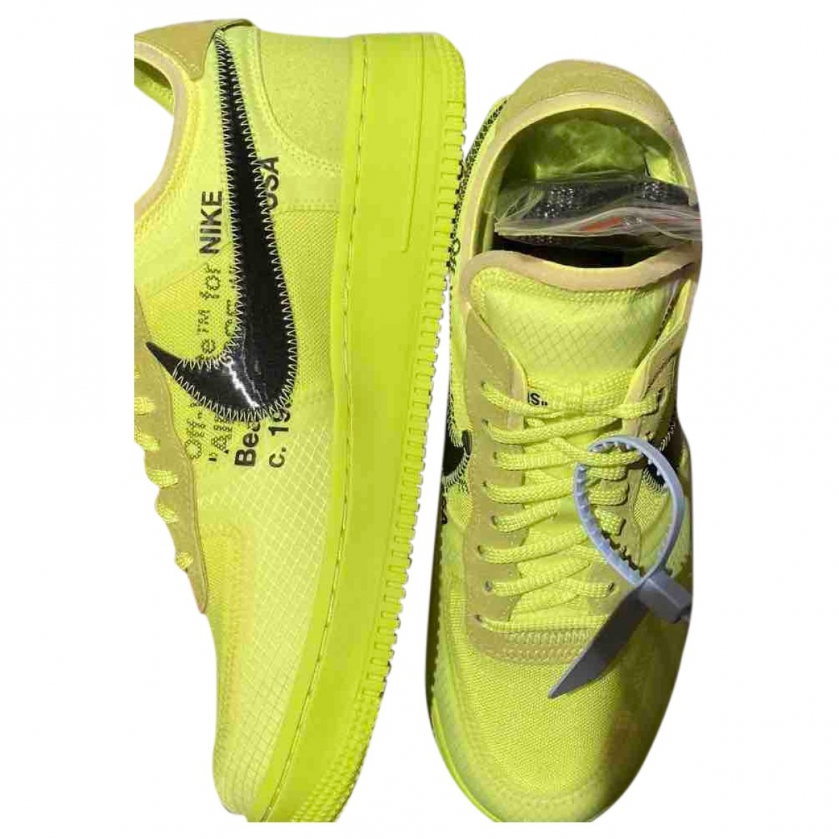 Nike X Off-white Air Force 1 Sneakers Gelb