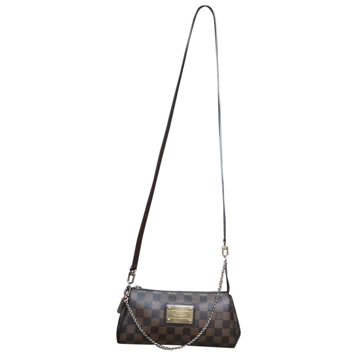 Louis Vuitton - Sac a main Eva pour femme en toile - marron