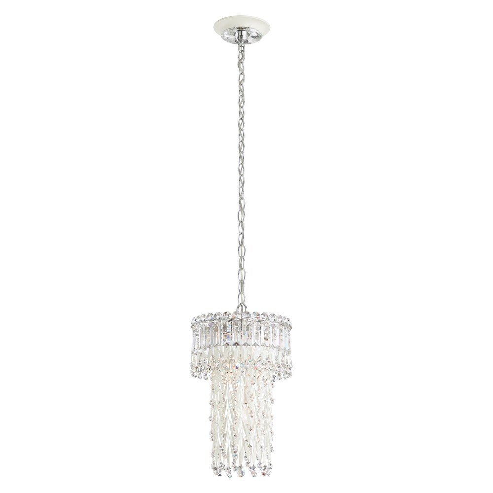 Sarella 10 Light Chandelier in White with Crystal Spectra - One Size (One Size - Clear)