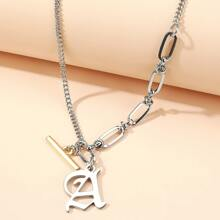 Letter Charm Chain Necklace
