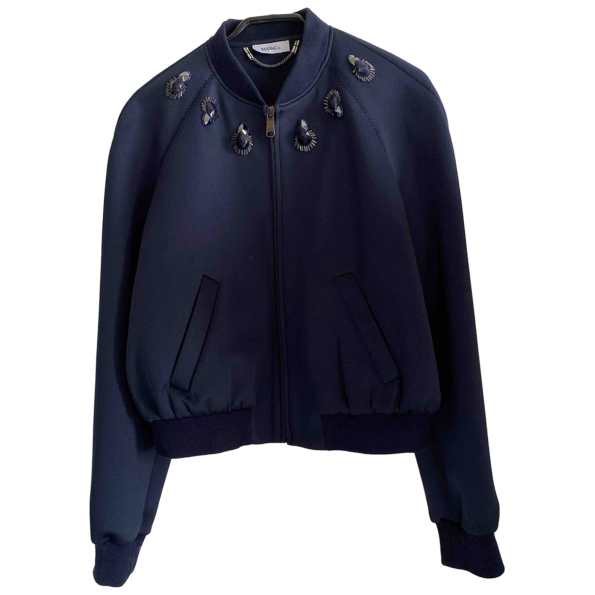 Max & Co N Blue jacket for Women 44 IT