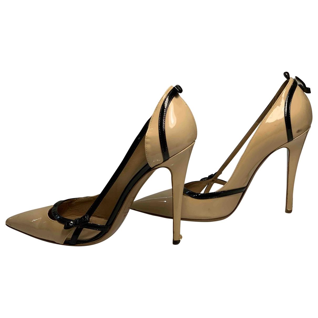 Dsquared2 - Escarpins   pour femme en cuir verni - beige