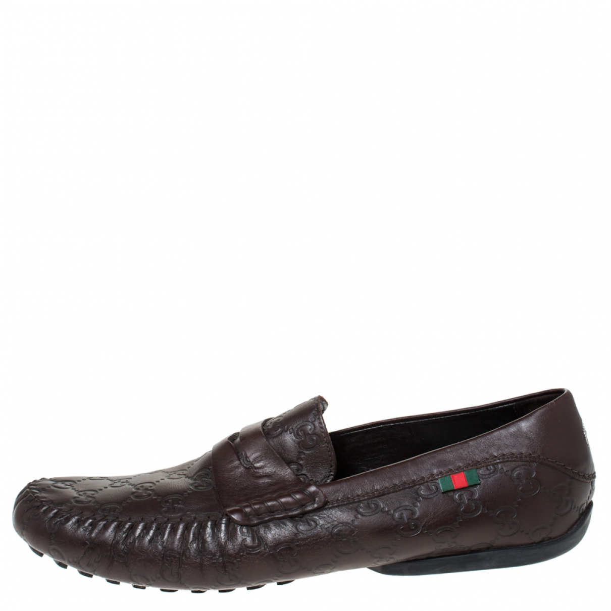 Gucci \N Brown Leather Flats for Men 12 US