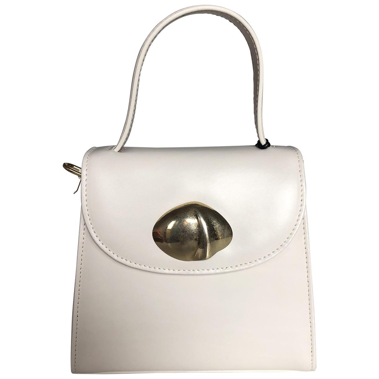 Little Liffner \N White Leather handbag for Women \N