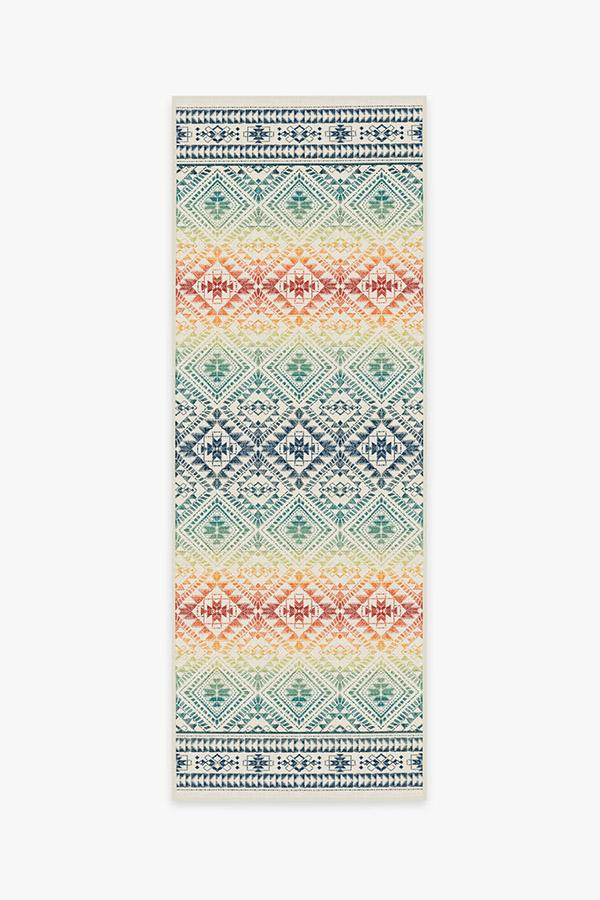 Washable Rug Cover & Pad | Outdoor Nomada Multicolor Rug | Stain-Resistant | Ruggable | 2.5'x7'